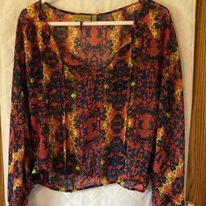 Vera Wang see through blouse